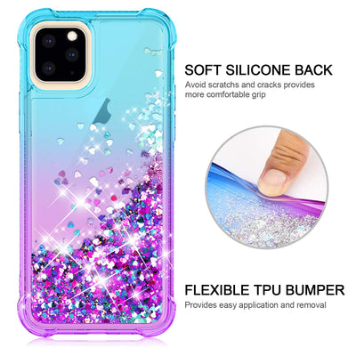 Case Gradient Floating Quicksand Four Reinforced Corners TPU Bumper for iPhone 11 Pro Max