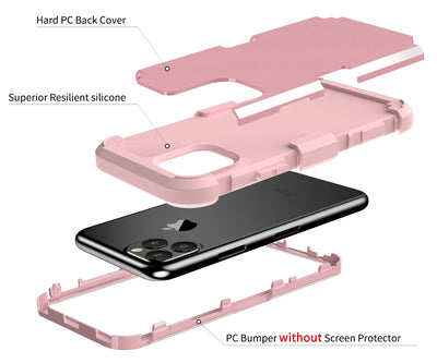 Case Shockproof Protect Hybrid Hard Rubber Impact Armor Phone Cases For iPhone 11 Pro Max