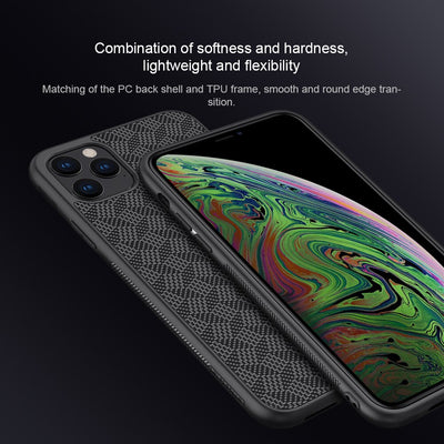 Shockproof Ultra Slim Back Cover for iPhone 11 Pro MaxPlaid Synthetic Fiber