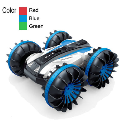 360 Rotate Remote Control Car RC Stunt Car 2 Sides Waterproof Driving on Water and Land Amphibious Electric Toys for Children