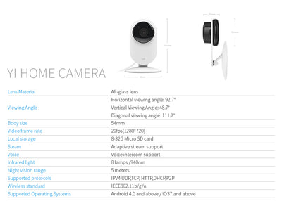 720P IP Camera Night Vision