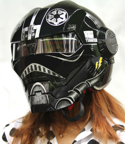 Storm-Trooper Motorcycle Helmet