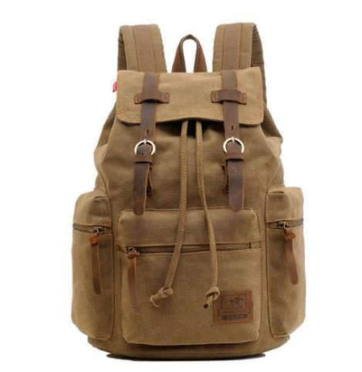 Vintage Travel Canvas Rucksack