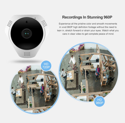960P Wireless Panoramic Camera