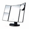 TouchScreen Makeup Mirror Foldable Triple-Panel LED