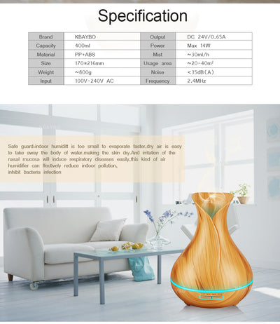 ULTRASONIC AROMA DIFFUSER AND HUMIDIFIER