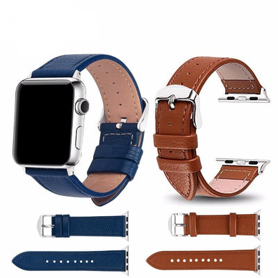 Leather Watchband for Apple Watch Band Series 3/2/1 Sport Bracelet 42 mm 38 mm