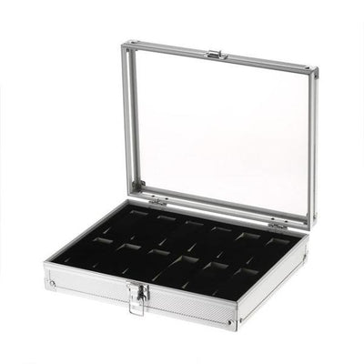 Luxury 12 Slot Aluminum Watch Storage Box for Women