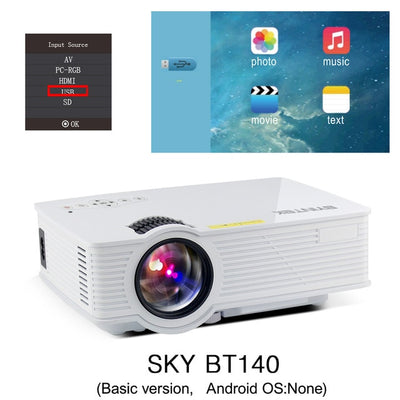 Portable Mini Micro LED Cinema Projector