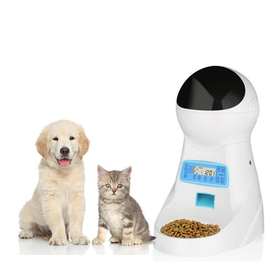 Automatic Pet Feeder With Voice Recorder and infrared sensor