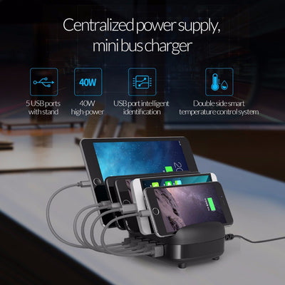 5 Ports USB Charger Station Dock