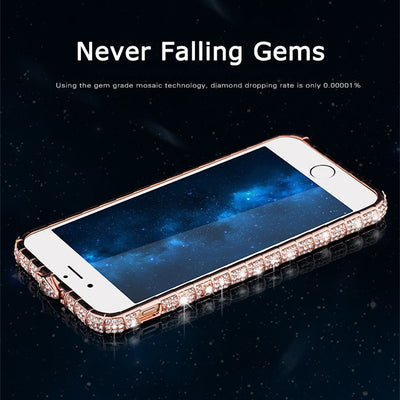 Rhinestone SnakeBumper Phone Case Litchi Grain Phone Case For iPhone 6 /6S /6 Plus /6s Plus/7 /7 Plus /8 /8 Plus / X / XS/ XR/ XS Max