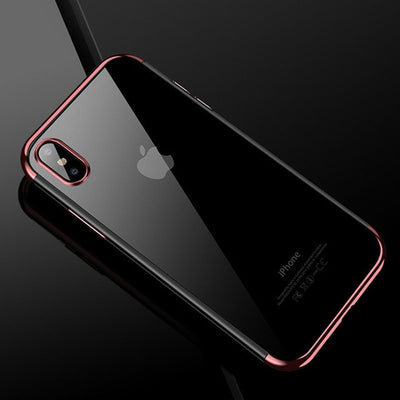Luxury Silicone Clear Case for iPhone X 6 6S Plus 7 8 Plus XS Max XR