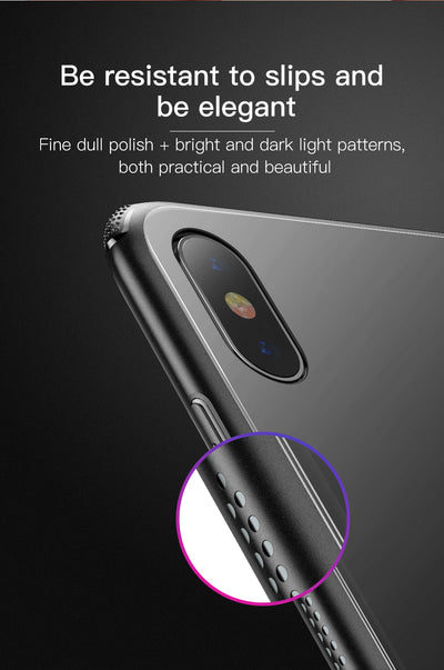 Luxury Original Tempered Glass Case For iPhone Xs Xs Max XR