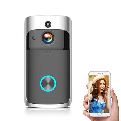 Wireless HD 720P Smart Video Doorbell Infrared Night Vision Motion Detection