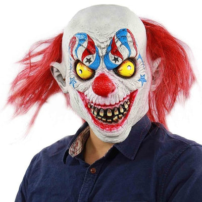 Scary Evil Clown Mask Double Face Latex Rubber Mask Halloween Costume Mask