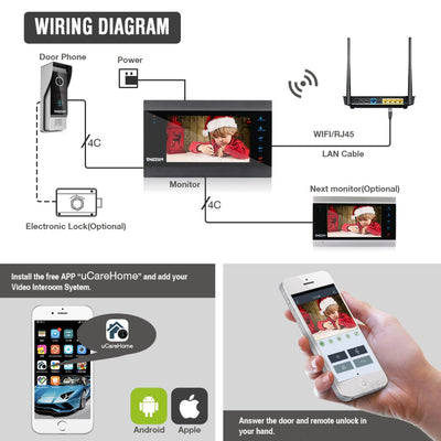 Premium WiFi Video Doorbell Camera System