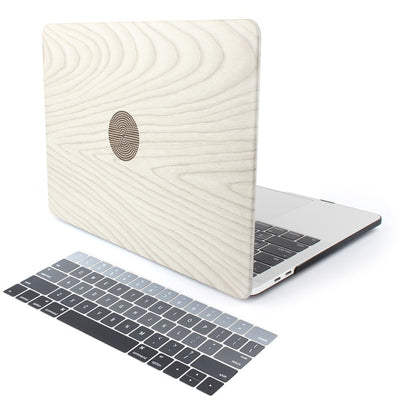 Macbook Wood Grain Leather Case