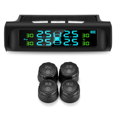 Solar Tpms LCD Car Tire Pressure Monitoring