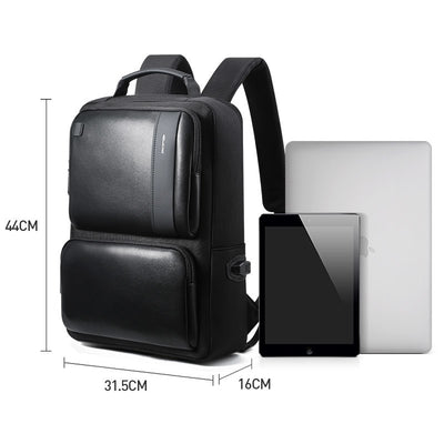 Anti Theft Leather Business Backpack