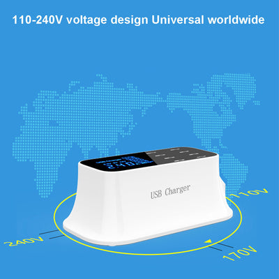 8 Port USB Charging Station