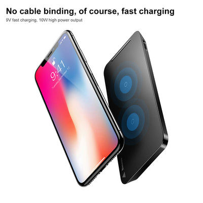 10W Qi Wireless Charger for iPhone X XS Max XR Samsung S9 S8 Note 9 Fast Qi Wireless