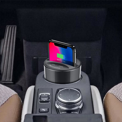 Wireless Car Charger - Car Phone Charger - Cup Holder Car Charger