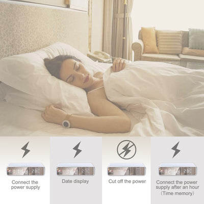 Qi Wireless Fast Charging Led Alarm Clock