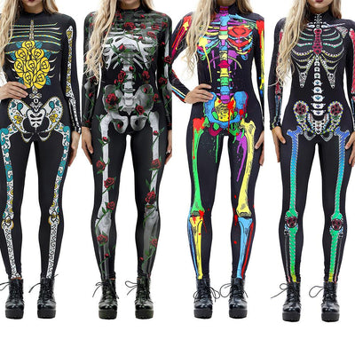 Halloween Costumes For Women Horror Zombie Sexy Skeleton Costume