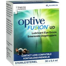 Optive Fusion UD Contact Lens Wetting Eye Drops  30 x 0.4 ml
