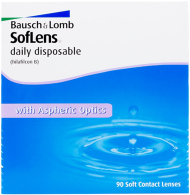Bausch & Lomb Soflens Daily contact lens 90 pack