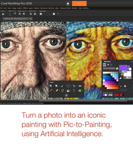 PaintShop Pro 2019 Picture to Painting