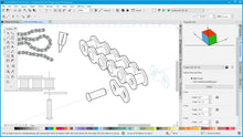 CorelDRAW Technical Suite 2019 Designer Light UI Projected Drawing