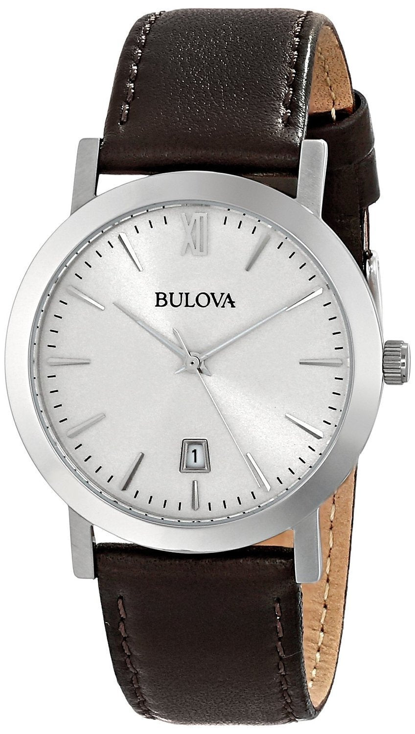 Bulova Dark Brown Leather Strap 96B217 Unisex Watch