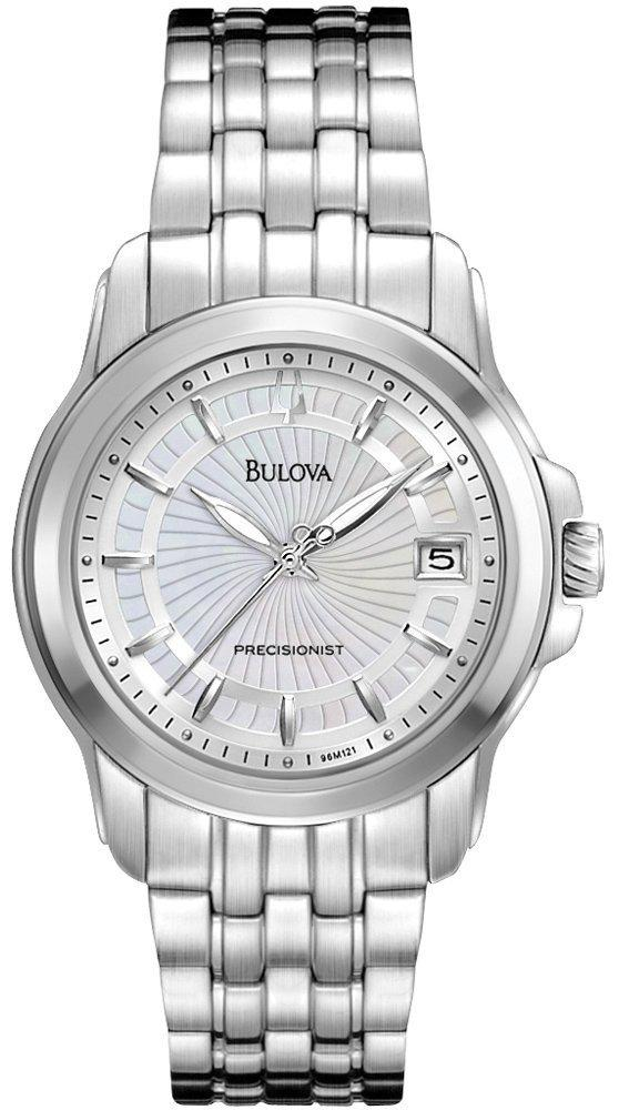 Bulova Precisionist Classic White Mother of Pearl Dial 96M121 Women's Watch