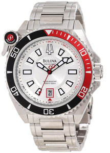 Bulova Precisionist 300M Silver Dial 98B167 Men's Watch
