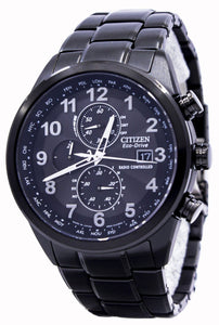 Citizen Eco-Drive Chronograph World-Time Atomic AT8105-53E Men's Watch