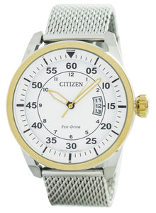 Citizen Aviator Eco-Drive Mesh Band AW1364-54A Men's Watch