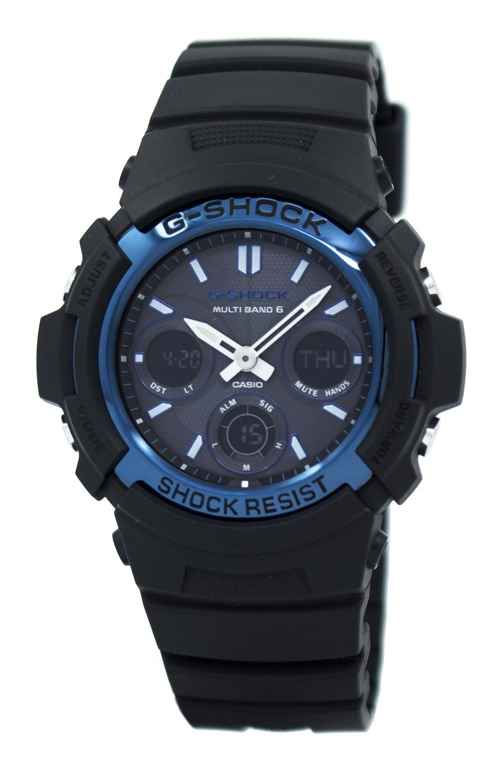 Casio G-Shock Atomic Multi Band 6 Analog-Digital AWG-M100A-1A Men's Watch