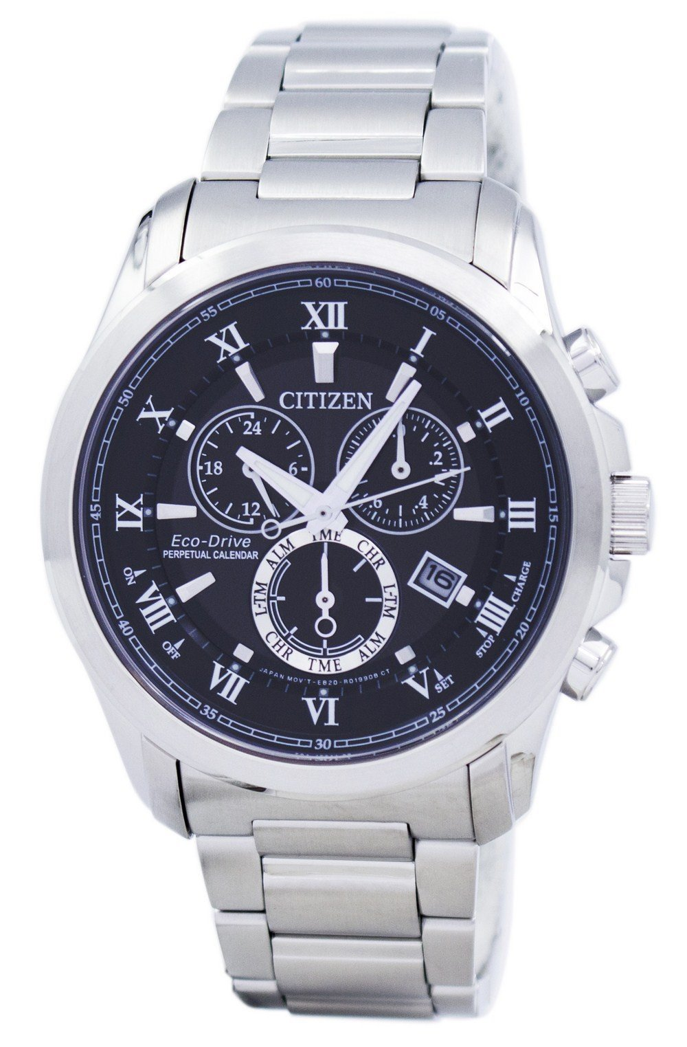 Citizen Eco-Drive Chronograph Perpetual Calendar Alarm BL5540-53E Men's Watch