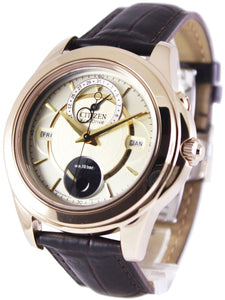 Citizen Eco-Drive Calendar Moon Phase BU0003-02P Men's Watch