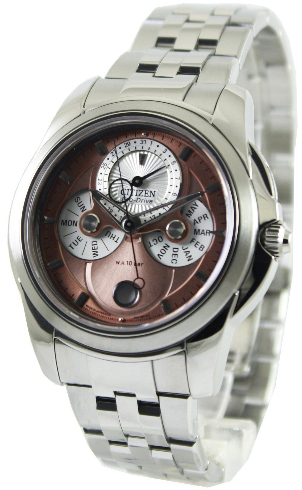 Citizen Eco-Drive Moon Phase Power Reserve BU0011-63ZB Men's Watch