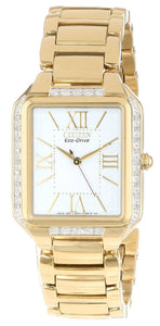 Citizen Ciena Diamonds Eco-Drive Gold Tone EM0192-57A Women's Watch