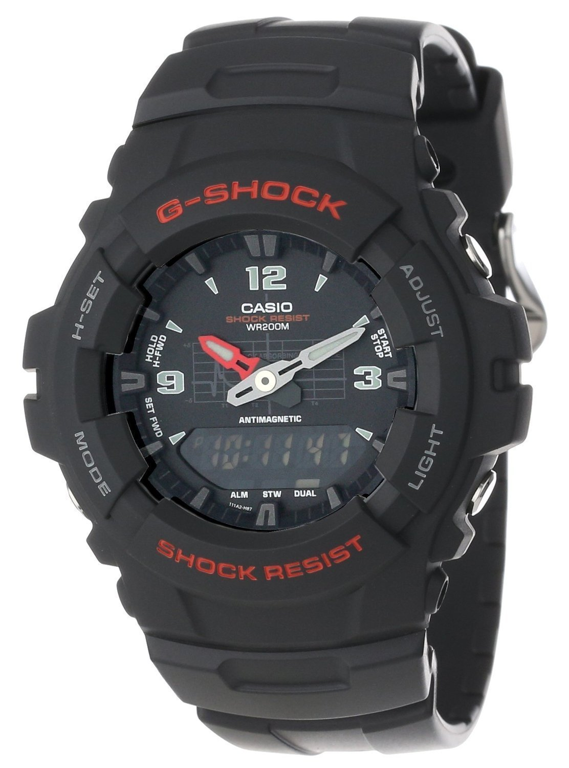 Casio G-Shock Antimagnetic Ana-Digi G100-1BV Men's Watch