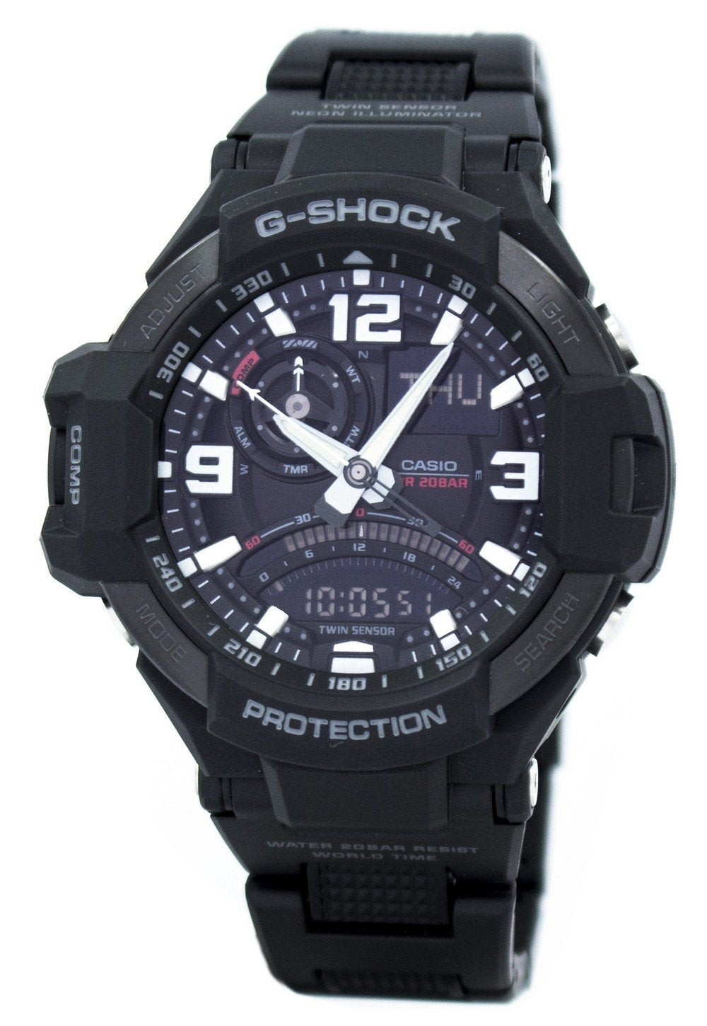 Casio G-Shock Twin Sensor GRAVITYMASTER GA-1000FC-1A GA1000FC-1A Men's Watch