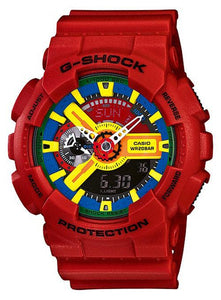 Casio G-Shock Red Analogue Digital GA-110FC-1A Men's Watch