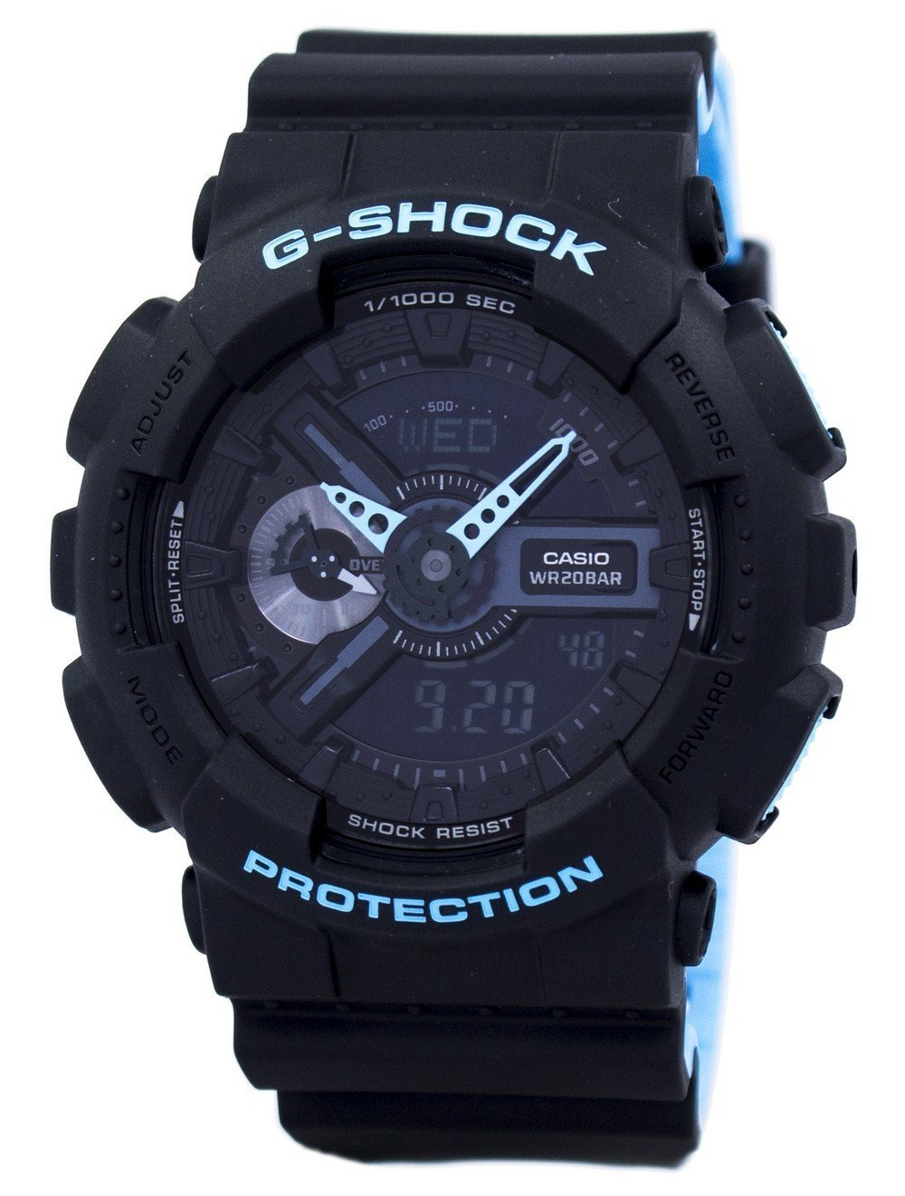 Casio G-Shock Shock Resistant World Time Alarm Analog Digital GA-110LN-1A GA110LN-1A Men's Watch