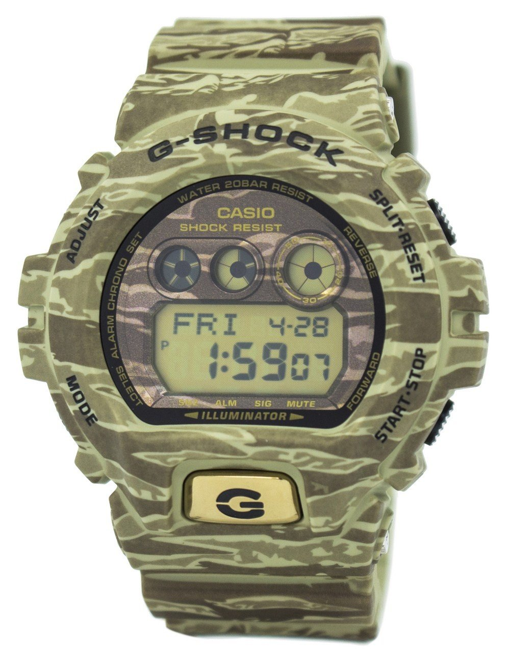 Casio G-Shock Camouflage Illuminator World Time 200M GD-X6900TC-5 Men's Watch