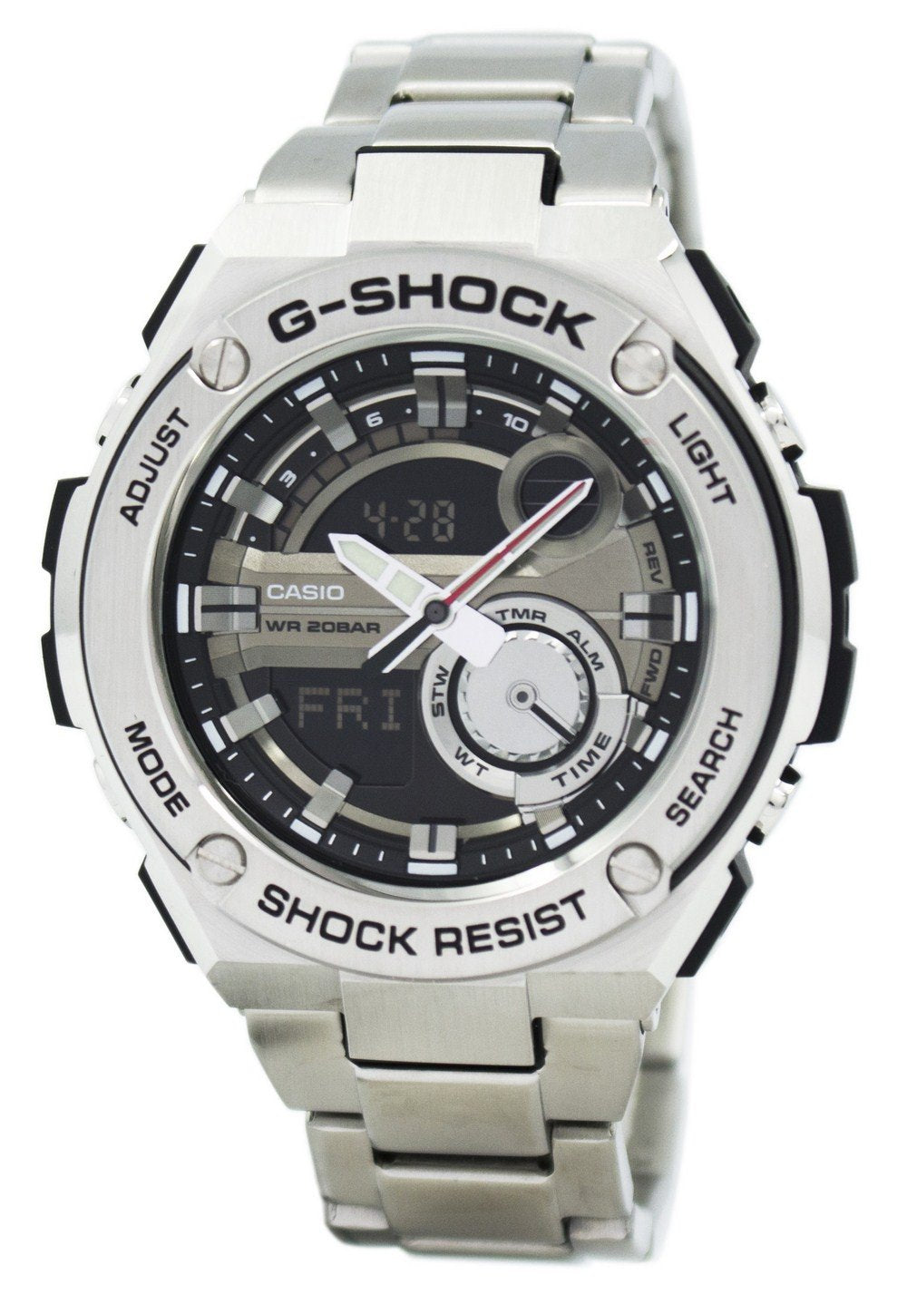 Casio G-Shock G-Steel Analog Digital World Time GST-210D-1A GST210D-1A Men's Watch