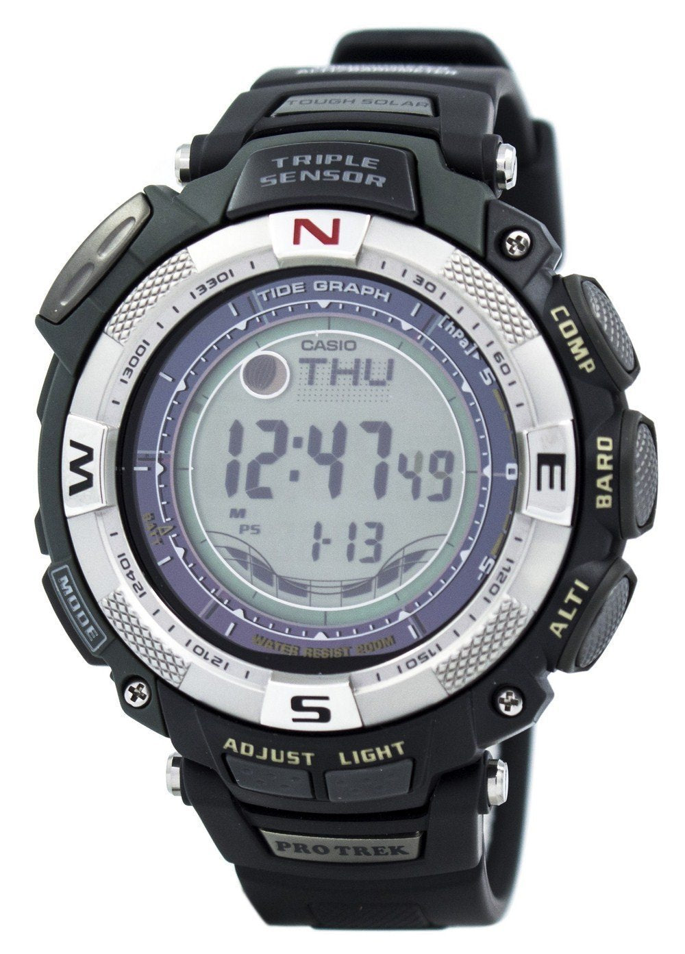 Casio Protrek Triple Sensor Tough Solar PRG-130-1V PRG130-1V PRG130 Tide Graph Watch